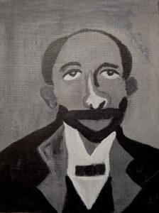 Image: Black and white portrait of WEB DuBois